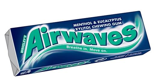 Airwaves 14g Menthol&Eucalyptus chewing gum