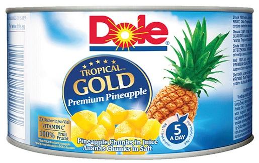 227/139g Dole Tropical Gold Ananasbitar i juice