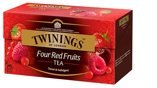 Twinings 25x2g Four Red Fruits tea