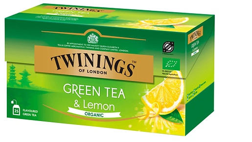 Twinings 25x1,5g Green tea & Lemon Organic