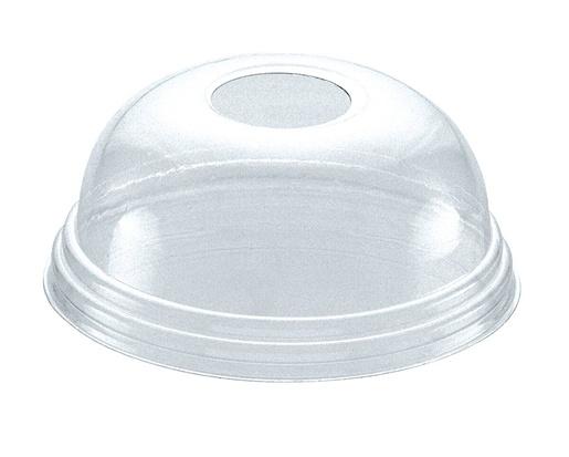 Huhtamaki 100x95mm degradable dome lid with hole