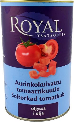 ROYAL 4,2/2,6KG AURINKOKUIVATTUJA TOMAATTIKUUTIOITA ÖLJYSSÄ