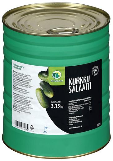 Herkkumaa 3,15kg Kurkkusalaatti