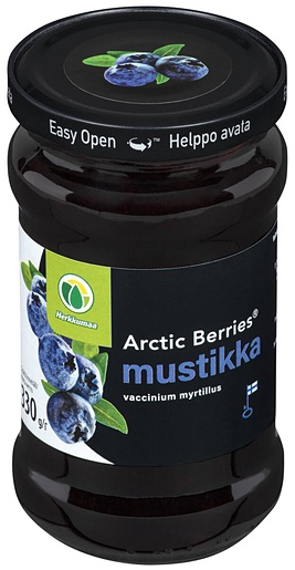 Arctic Berries mustikkahillo 330g