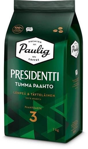 Presidentti Tumma Paahto 1kg papukahvi