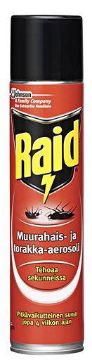 Raid muurahais-&torakka-aerosoli 300ml torjunta-aine