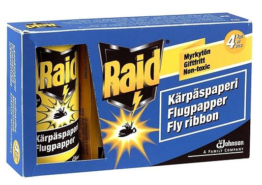 Raid Kärpäspaperi 4pcs fly catcher
