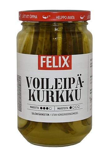 Felix voileipäkurkku sliced cucumbers in pickle 460/230g