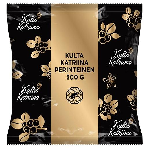 Kulta Katriina Traditional coarse ground filter coffee 100% responsibly sourced 15x300g