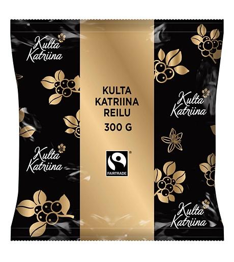 Kulta Katriina Reilu puolikarkea jauhatus kahvi Reilu kauppa 15x300g