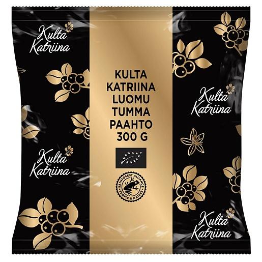 Kulta Katriina Organic dark roast half coarse ground filter coffee UTZ 15x300g