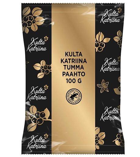 Kulta Katriina Tumma paahto puolikarkea jauhatus kahvi 44x100g