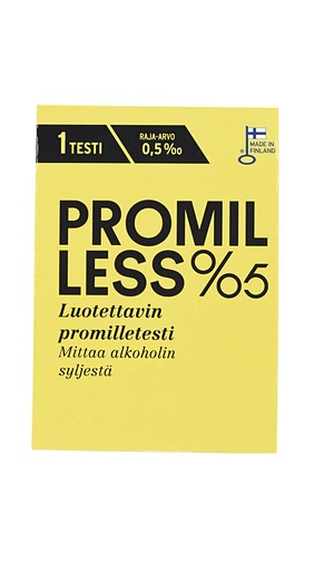 Promilless 0,5 promille test disposable test 1pc