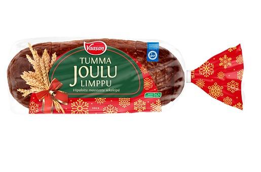 Vaasan Tumma Joululimppu 500g viipaloitu maustettu sekaleipä