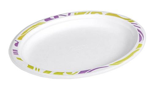 Huhtamaki 50kpl 26x19cm Chinet Bioware flavour oval plate