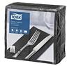 Tork Dinner-lautasliina musta 150kpl/39cm 2krs 1/8taitto