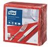 Tork Soft Dinner-lautasliina punainen 100kpl/39cm 1/4taitto