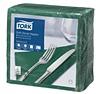 Tork Soft Dinner-lautasliina tummanvihreä 100kpl/39cm 1/4taitto
